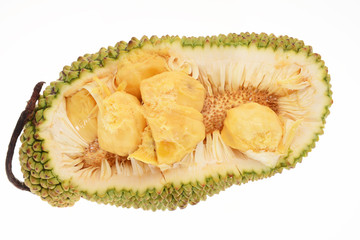 Jackfruit Sectional View Showing The Seeds