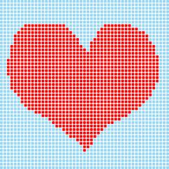 cœurs petits carrés