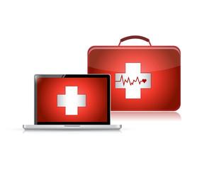 medical support technology illustration design