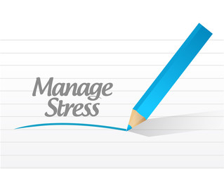 manage stress message illustration design