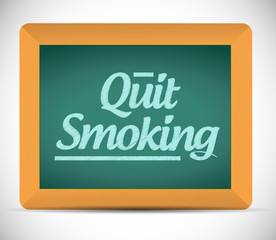 quit smoking message on a chalkboard. illustration