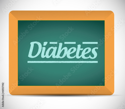 diabetes message on a chalkboard. illustration