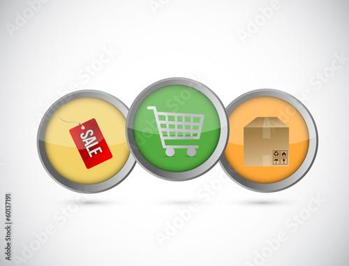 shopping concept illustration design