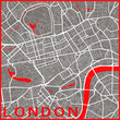 Minimalist London map