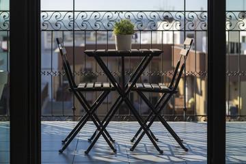 Tavolino in terrazza