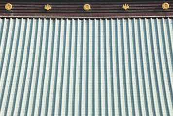 detail of japanese temple roof