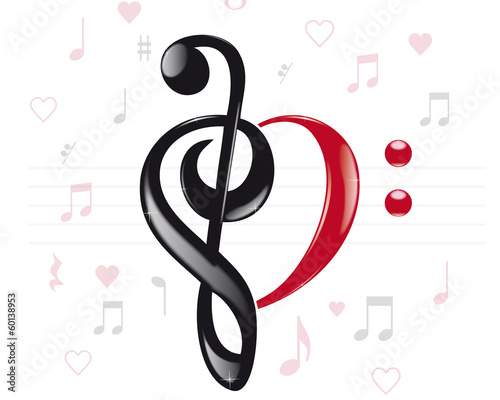 Musical heart keys