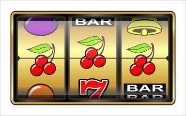 jeu de casino, machine à sous, 3 cerises