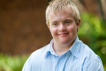 Handsome handicapped boy.