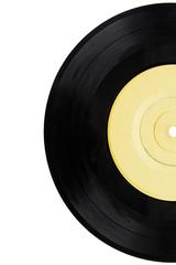 Half of vinyl record