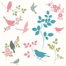 Les oiseaux et les brindilles