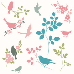 Birds and twigs