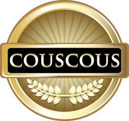 Couscous Gold Vintage Label