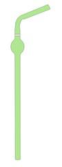 cartoon illustration of drink straw