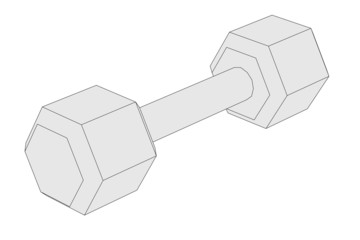 cartoon illustration of weights (fitness)