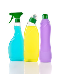 Set of cleaning products. Cleaners.