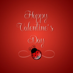 Happy Valentine's Day with ladybug