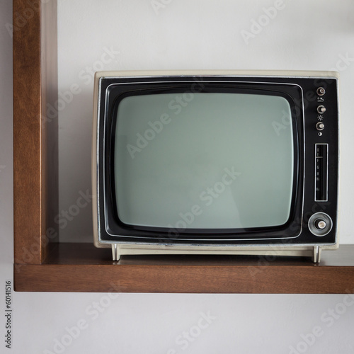 Vintage television on a shelf