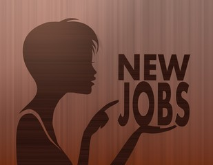 noble woman silhouette with new jobs