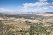 Views of Andalusian countryside from Ronda,  Malaga, Spain