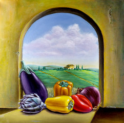 Vegetables by the window