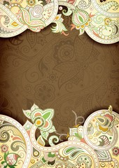 Chocolate Floral Frame Background