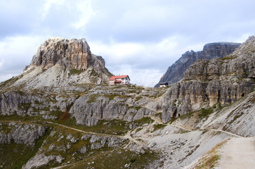 Dreizinnenhütte und Toblinger Knoten - Dolomiten