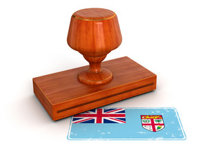 Rubber Stamp Fiji flag (clipping path included)