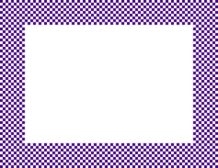 Dark Purple and White Checkered Frame