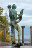 Poseidon Fountain in Millesgarden sculpture garden in Stockholm