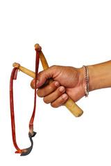 Hand Holding Slingshot