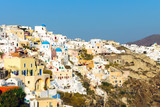View of Oia on Santorini, Greek islands