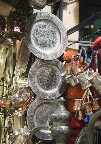 Metal dishware shop