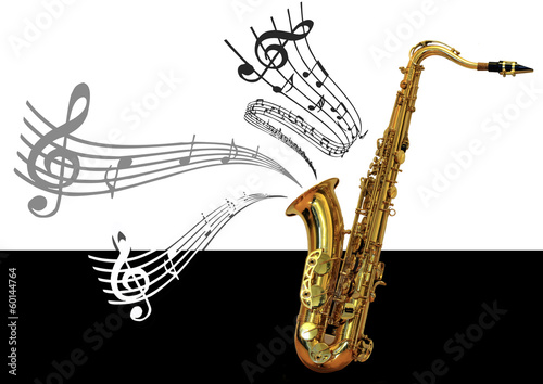 Saxophone et notes