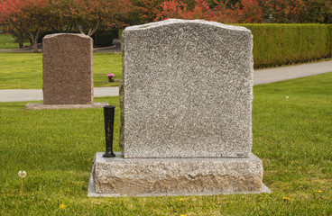 Two Blank Tombstones