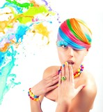 Colorfull beauty fashion portrait