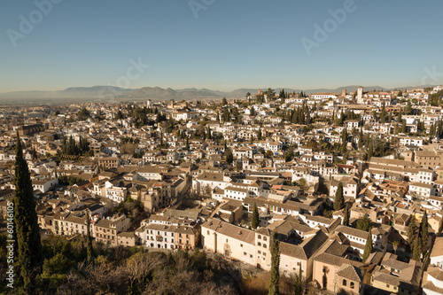 Old buildings in Moorish Albaicin district of Granada