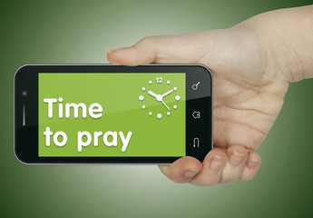 Time to pray. Phone