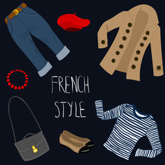 French style clothes set