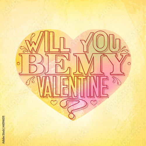 Will you be my Valentine greeting card