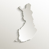 Finland map card paper 3D natural