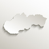 Slovakia map card paper 3D natural
