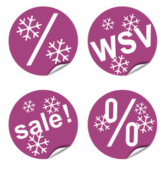 Button-Kollektion für Verkaufsaktion