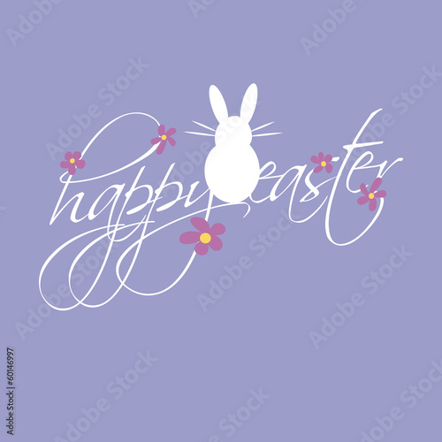 violett vector happy easter