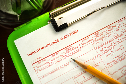 Health Insurance Claim Form - Shallow DOF