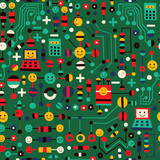 cartoon circuit board
