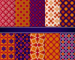 Set of classic bright geometric patterns