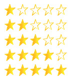 Five Stars Golden Stars Set