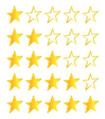 Five Stars Golden Stars Set