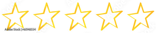Five Gold Stars Premium Quality Product Rating